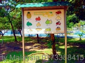 日本人学校校内の看板。マレーシアらしいですね。